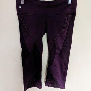 Nux Patterned Capri Work Out Pants